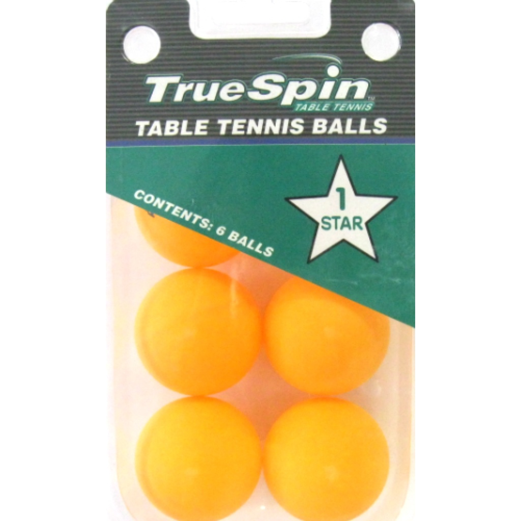10-117 - True Spin Table Tennis Balls - Pack of 6