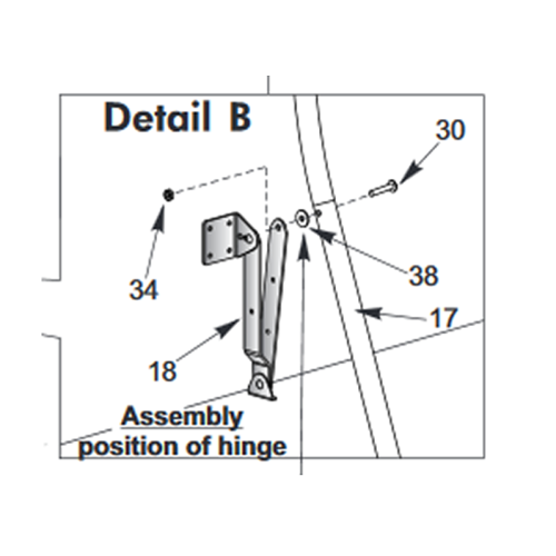 10-T8742 - Hinge Assembly