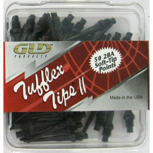 12-622 - Tufflex II Dart Tips 2BA - Black