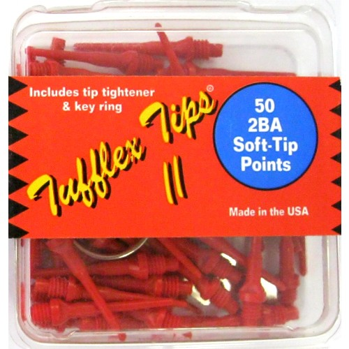 12-625s - Tufflex II Dart Tips 2BA- Red