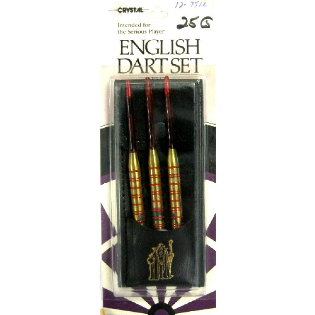 12-751R - English Steel Tip Brass Darts - 25g Red