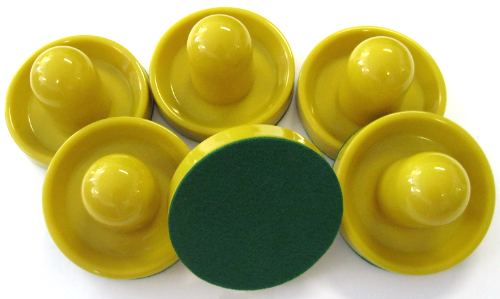 13-194 - Deluxe Home Air Hockey Mallet - Goldenrod - Set of 6