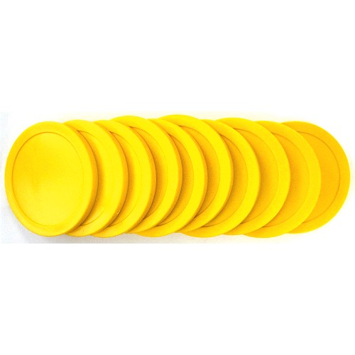 13-257s - Thompson Yellow Commercial Pucks Set of 10