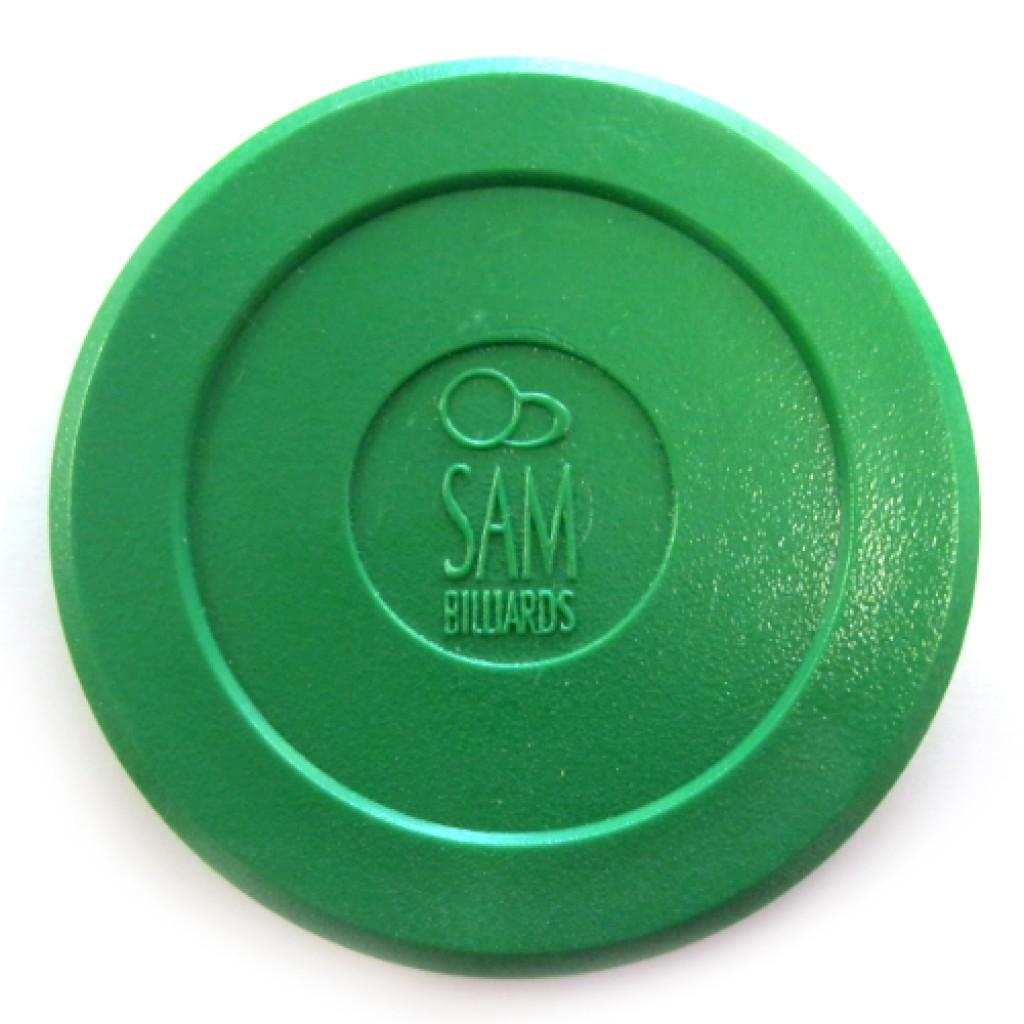 13-329 - Sam Billiards Green Air Hockey Puck
