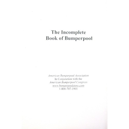 15-733 Incomplete Book of Bumperpool