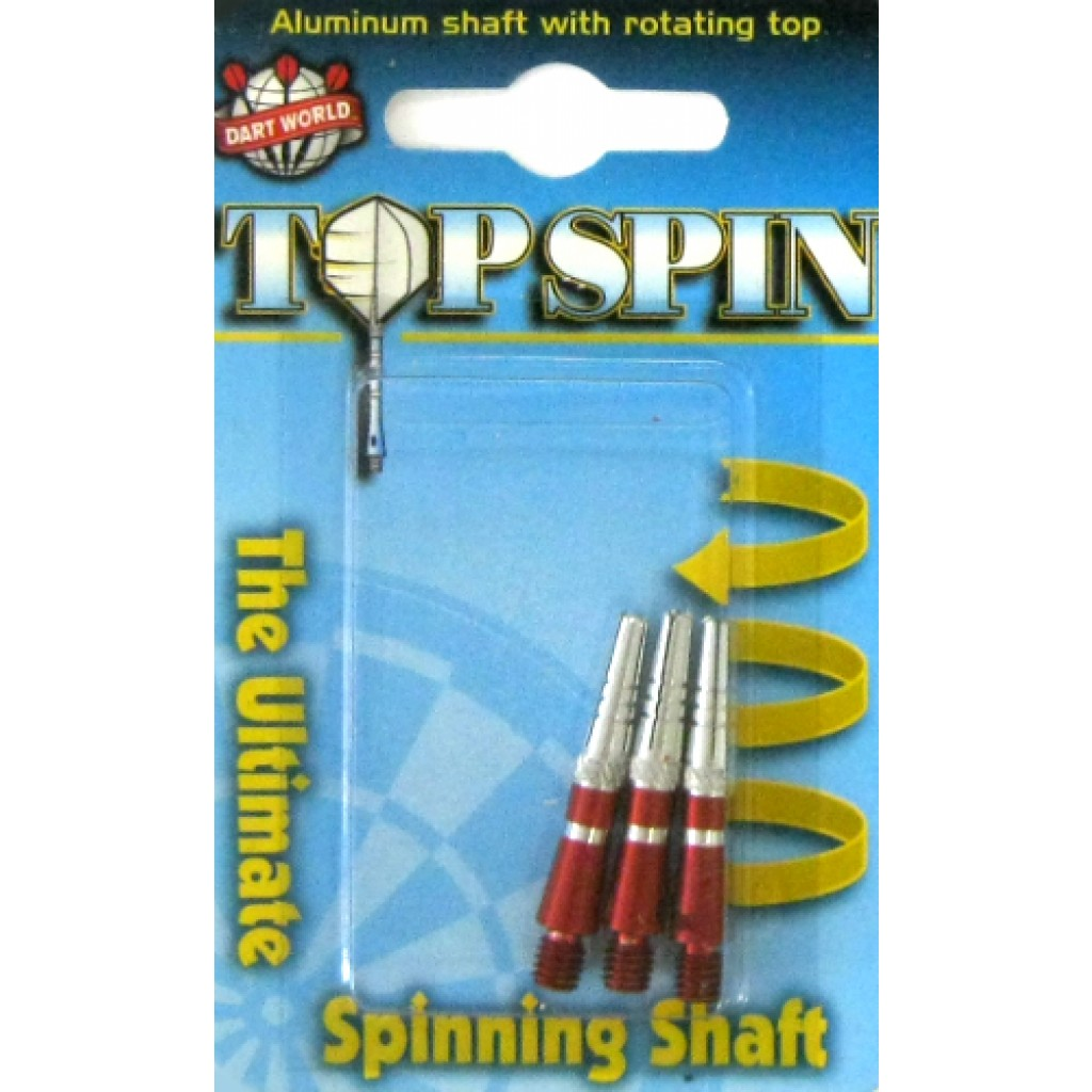 16-0098 - Top Spin Dart Shaft - Grooved - Extra Short - Red