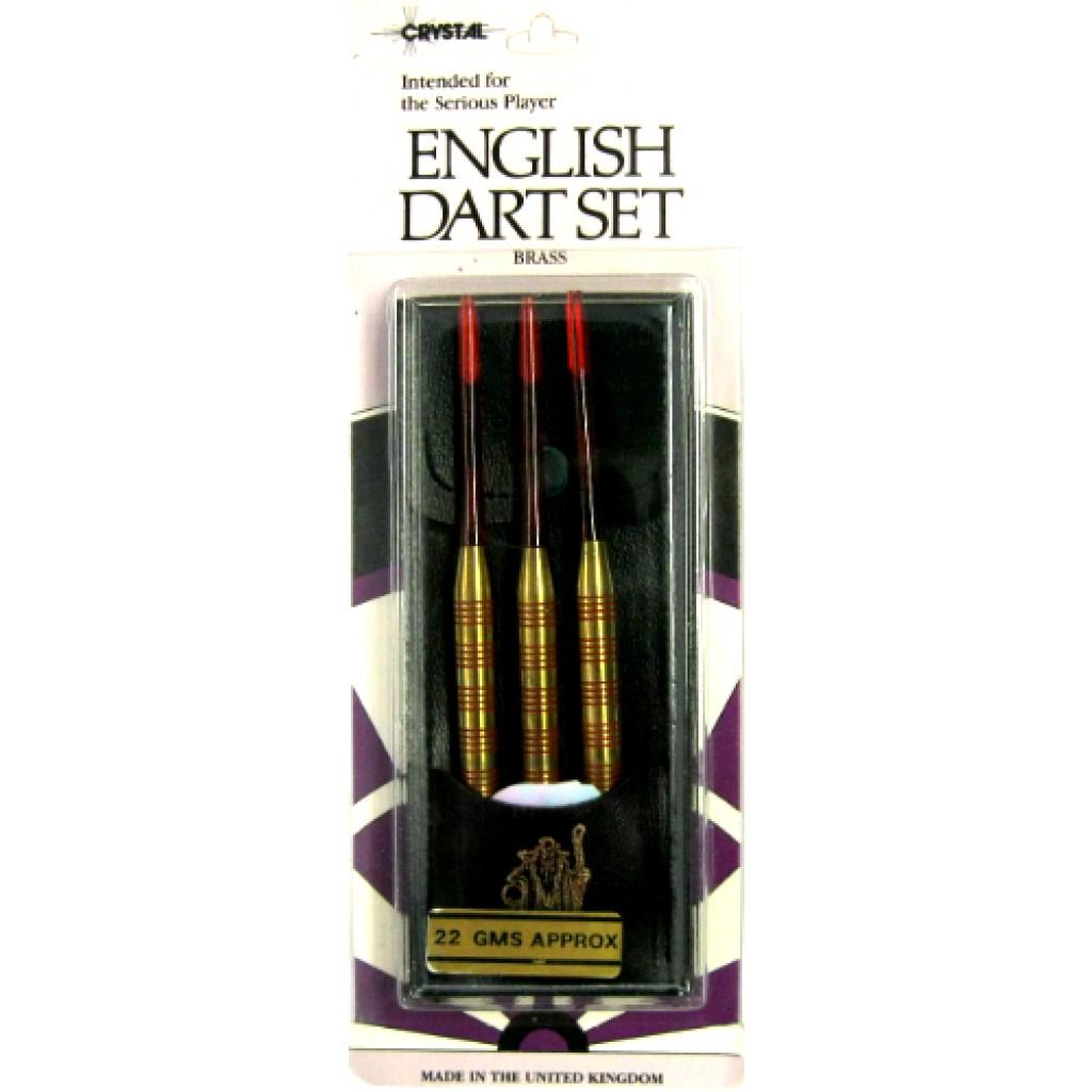 21-000 - English Steel Tip Brass Dart - 22g Red
