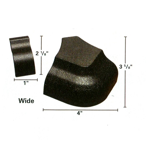 21-743 - Textured Wide Rail Caps Set