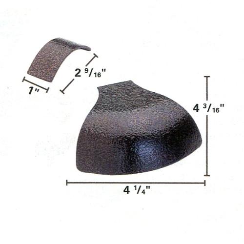 21-745 - Bronze Penny Veined Rail Caps Set