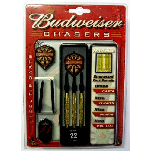 21-809 Budweiser Chasers Steel Tip 22 gr
