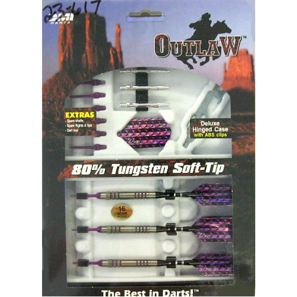 23-617p - Outlaw Steel Tip Darts - 16g
