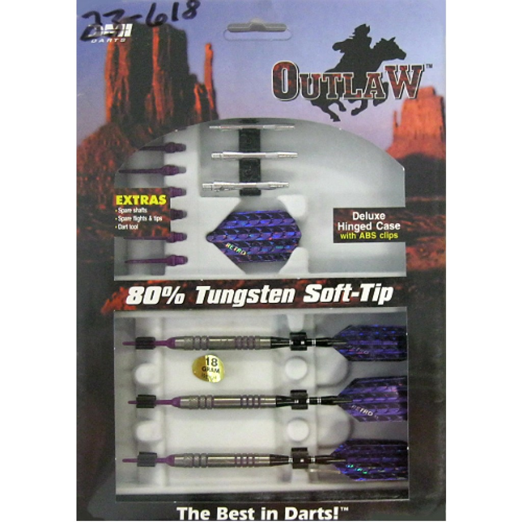 23-618 - Outlaw Steel Tip Darts - 18g