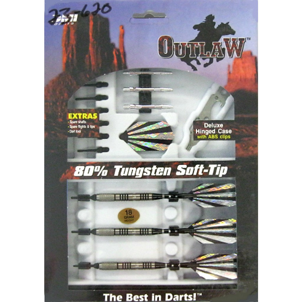 23-620 - Outlaw Steel Tip Darts - 18g