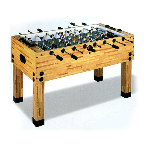 Butcher Block Soccer Foosball Table