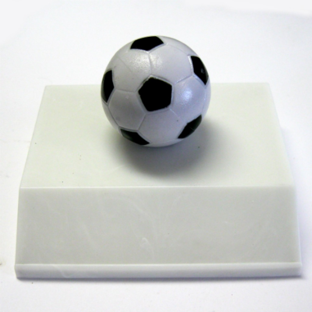 58-0086w - Foosball Mini Trophy - White