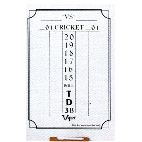 Cricket Dry Erase Score Board