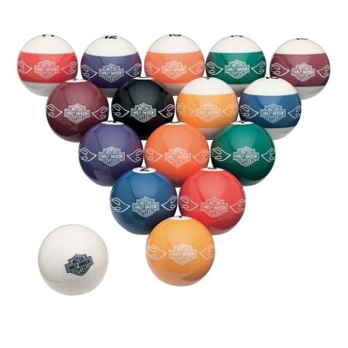 Harley Davidson billiard ball set