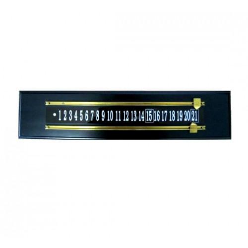shuffleboard wood brass scoreboard - black pine